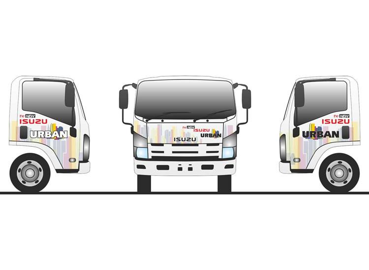 Isuzu Lorry Graphic Livery Aylesbury
