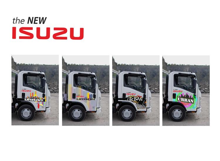 Isuzo urban layout for lorries