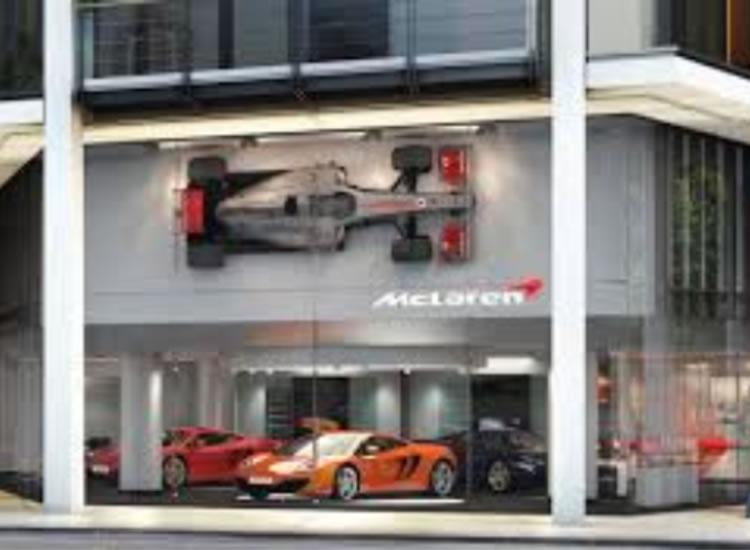 McLaren Showroom Signage