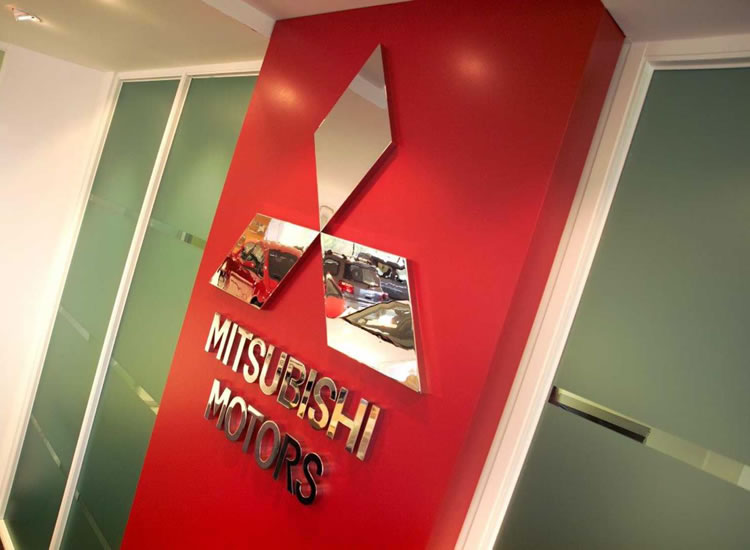 Mitsubishi office sign