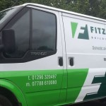Vehicle wrap for building companies van fleet