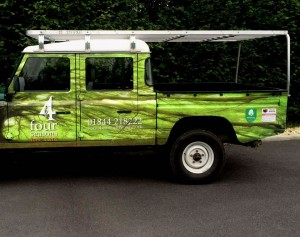 Graphic designed vehicle wrap for Thame company van